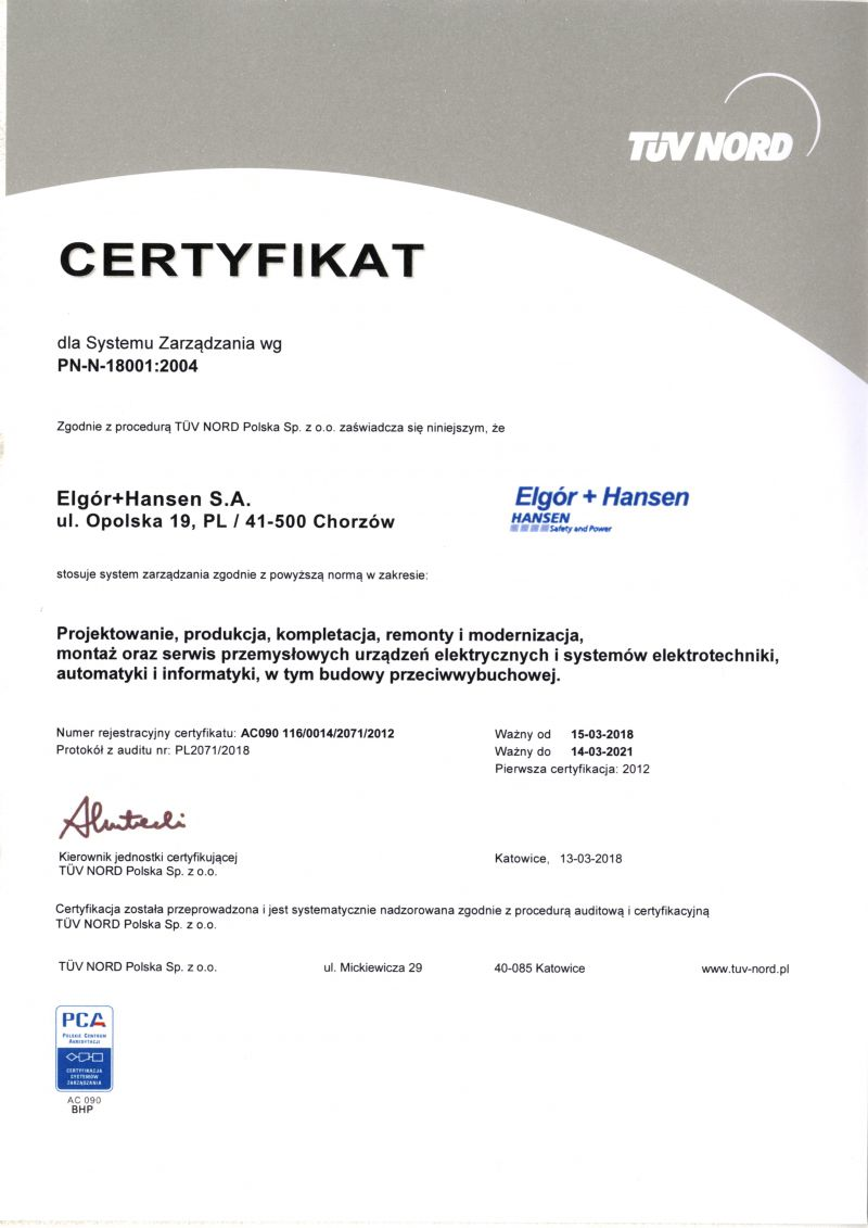 Working Safety Certificate